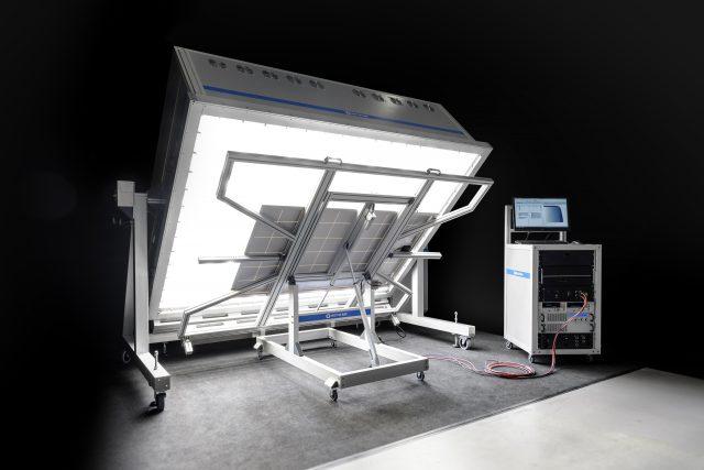 a solar simulator in a lab