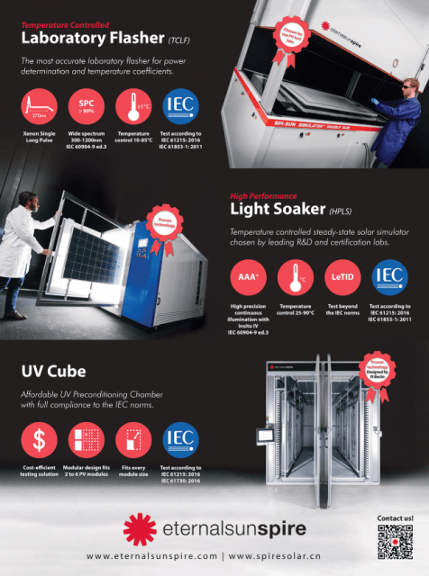 Laboratory flasher, steady state solar simulator UV chamber poster for SNEC 2020 China
