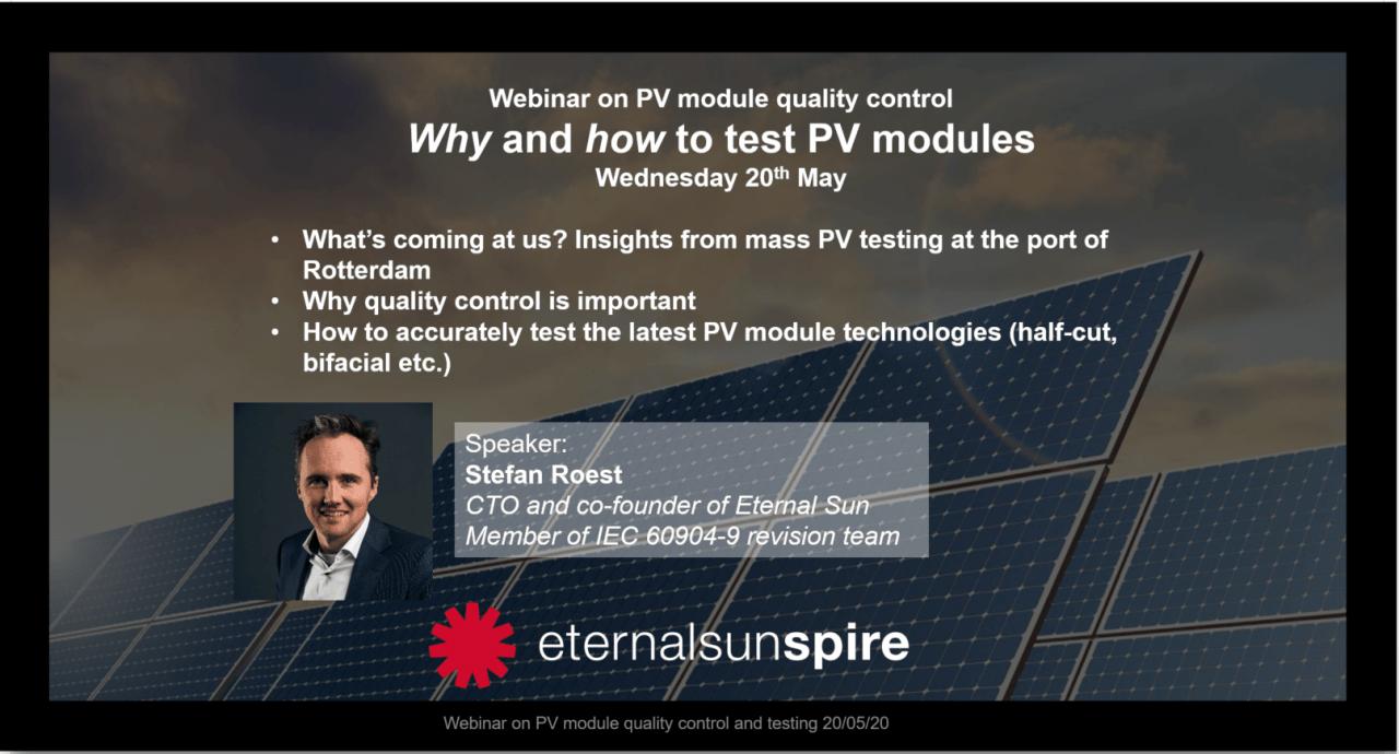 Invitation to PV quality control webinar