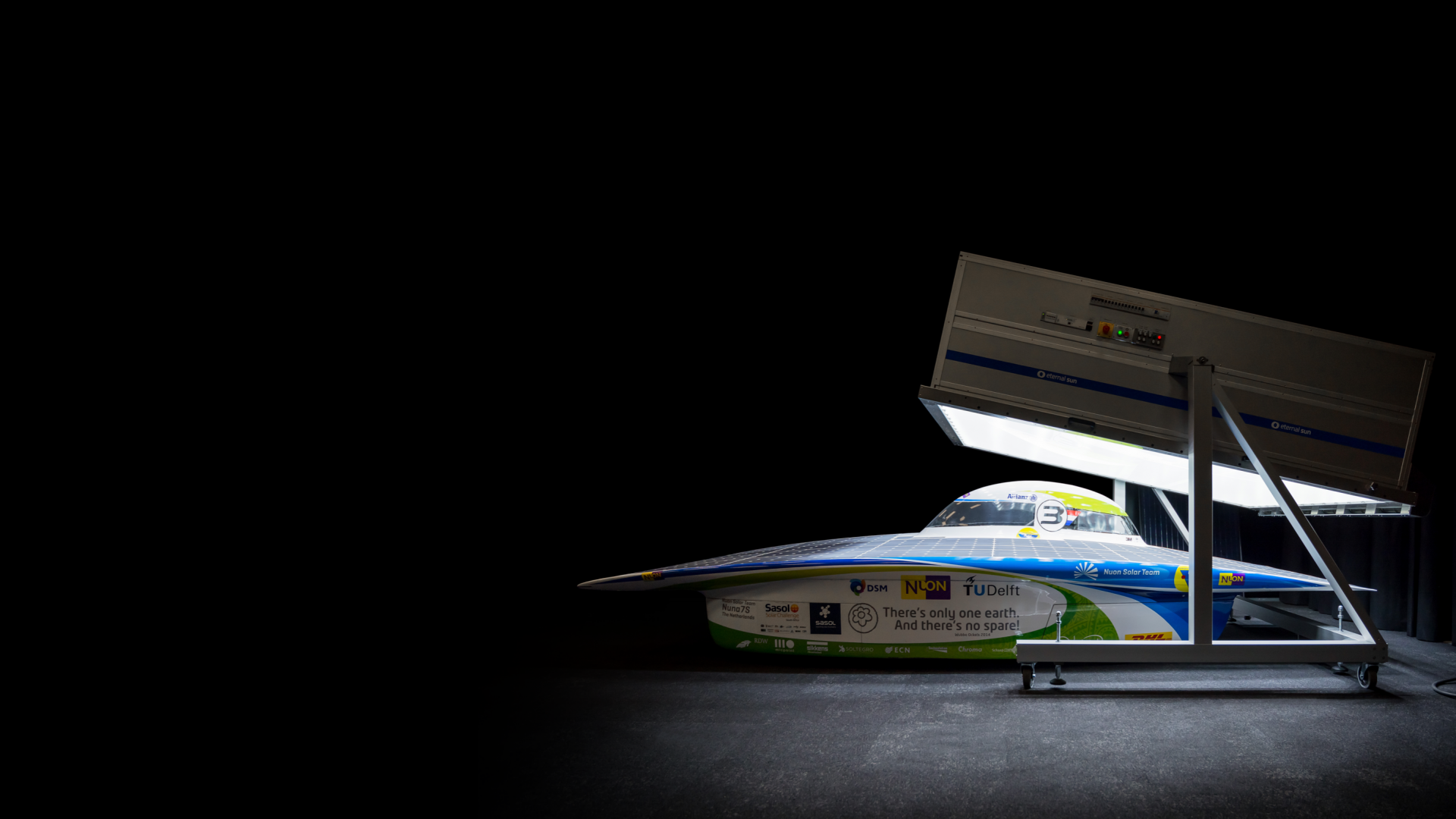 Solar PV car lightsoaking under a steady state solar simulator